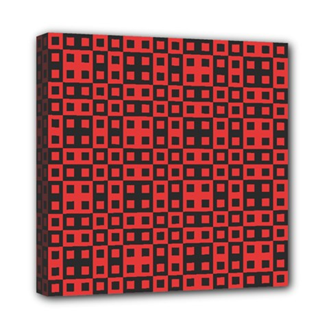 Abstract Background Red Black Mini Canvas 8  X 8
