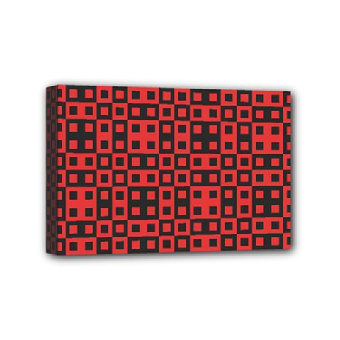 Abstract Background Red Black Mini Canvas 6  X 4
