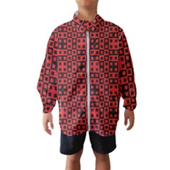 Abstract Background Red Black Wind Breaker (kids)