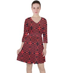 Abstract Background Red Black Ruffle Dress