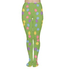Balloon Grass Party Green Purple Women s Tights