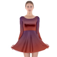 Course Colorful Pattern Abstract Long Sleeve Skater Dress