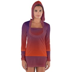 Course Colorful Pattern Abstract Long Sleeve Hooded T Shirt