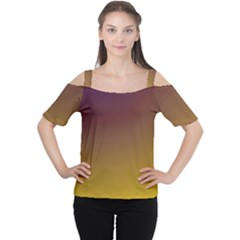 Course Colorful Pattern Abstract Cutout Shoulder Tee