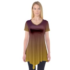 Course Colorful Pattern Abstract Short Sleeve Tunic