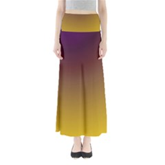 Course Colorful Pattern Abstract Full Length Maxi Skirt