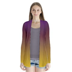 Course Colorful Pattern Abstract Drape Collar Cardigan
