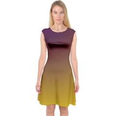 Course Colorful Pattern Abstract Capsleeve Midi Dress