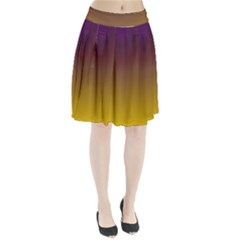Course Colorful Pattern Abstract Pleated Skirt
