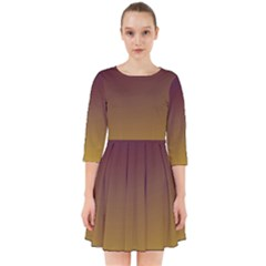 Course Colorful Pattern Abstract Smock Dress