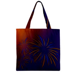 Sylvester New Year S Day Year Party Zipper Grocery Tote Bag