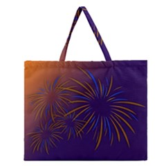 Sylvester New Year S Day Year Party Zipper Large Tote Bag