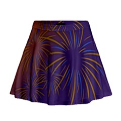 Sylvester New Year S Day Year Party Mini Flare Skirt