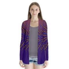 Sylvester New Year S Day Year Party Drape Collar Cardigan