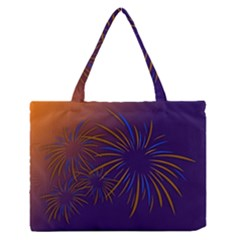 Sylvester New Year S Day Year Party Zipper Medium Tote Bag