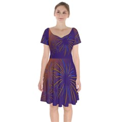 Sylvester New Year S Day Year Party Short Sleeve Bardot Dress