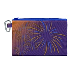 Sylvester New Year S Day Year Party Canvas Cosmetic Bag (large)