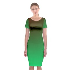 Course Colorful Pattern Abstract Classic Short Sleeve Midi Dress