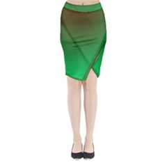 Course Colorful Pattern Abstract Midi Wrap Pencil Skirt