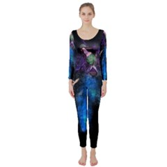 Magical Fantasy Wild Darkness Mist Long Sleeve Catsuit