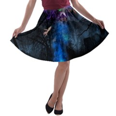 Magical Fantasy Wild Darkness Mist A Line Skater Skirt