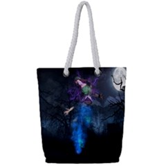 Magical Fantasy Wild Darkness Mist Full Print Rope Handle Tote (small)