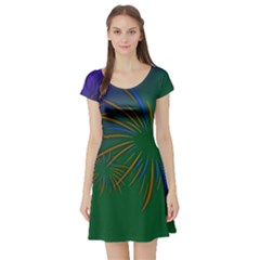 Sylvester New Year S Day Year Party Short Sleeve Skater Dress