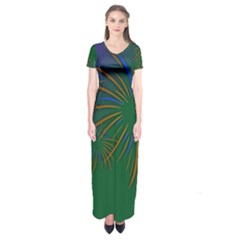 Sylvester New Year S Day Year Party Short Sleeve Maxi Dress