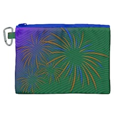 Sylvester New Year S Day Year Party Canvas Cosmetic Bag (xl)