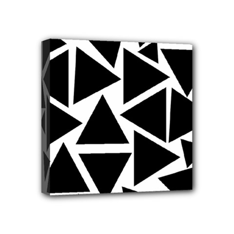 Template Black Triangle Mini Canvas 4  X 4