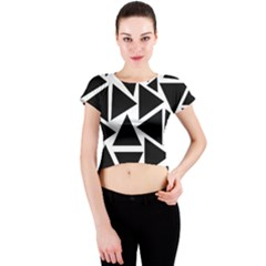 Template Black Triangle Crew Neck Crop Top