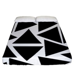 Template Black Triangle Fitted Sheet (queen Size)