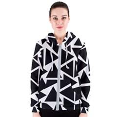 Template Black Triangle Women s Zipper Hoodie