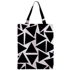 Template Black Triangle Zipper Classic Tote Bag