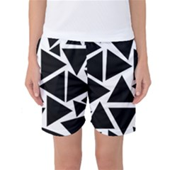 Template Black Triangle Women s Basketball Shorts