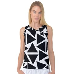Template Black Triangle Women s Basketball Tank Top