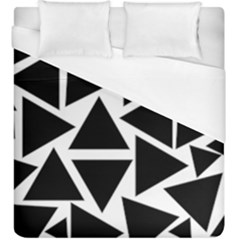 Template Black Triangle Duvet Cover (king Size)