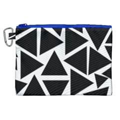 Template Black Triangle Canvas Cosmetic Bag (xl)