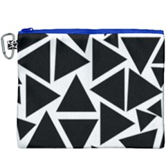 Template Black Triangle Canvas Cosmetic Bag (xxxl)