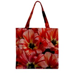 Tulips Flowers Spring Zipper Grocery Tote Bag