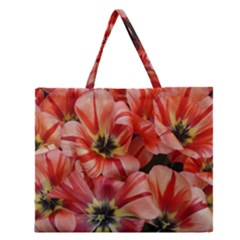 Tulips Flowers Spring Zipper Large Tote Bag