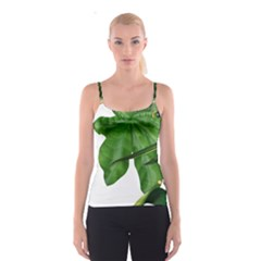 Plant Berry Leaves Green Flower Spaghetti Strap Top