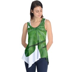 Plant Berry Leaves Green Flower Sleeveless Tunic