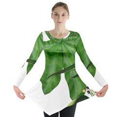 Plant Berry Leaves Green Flower Long Sleeve Tunic