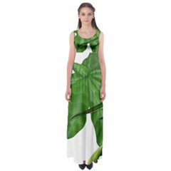 Plant Berry Leaves Green Flower Empire Waist Maxi Dress