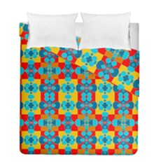 Pop Art Abstract Design Pattern Duvet Cover Double Side (full/ Double Size)
