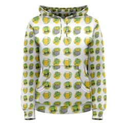 St Patrick S Day Background Symbols Women s Pullover Hoodie