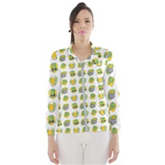 St Patrick S Day Background Symbols Wind Breaker (women)