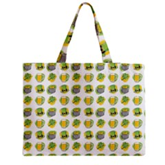 St Patrick S Day Background Symbols Zipper Medium Tote Bag