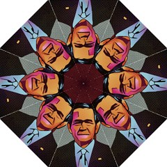 George W Bush Pop Art President Usa Folding Umbrellas